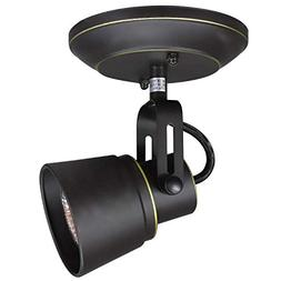 1-Light Vintage Adjustable Track Lights, Oil-Rubbed Bronze C