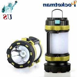 100000LM LED Camping Lantern Flashlight Rechargeable Work Li