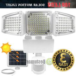 10000LM LED Solar Motion Sensor Light Flood Indoor Outdoor G