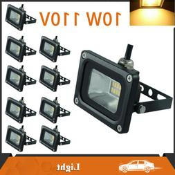 10Pcs 10W Warm White LED Flood Lights Spotlights Outdoor Sec