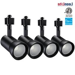 10W Aluminum LED Track Light Head, Dimmable CRI90+ H Type Sp