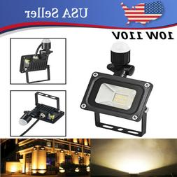 10W LED Flood Lights Warm White PIR Motion Sensor Spotlights