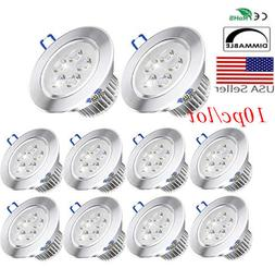10x Dimmable LED Downlight Spotlight Recessed Ceiling Down L