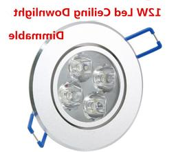 12W 4x3W Dimmable Ceiling Light Epistar LED ceiling lamp Rec