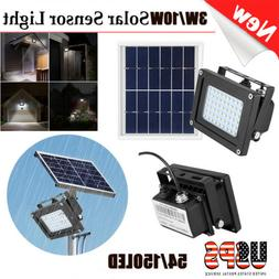 150 LED Solar Power Flood Light Sensor Motion Activated Outd
