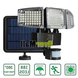 188LED Three Security Detector Solar Spot Light Motion Senso