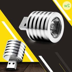 1x 2W Portable Mini USB LED Spotlight Lamp Light Mobile Powe