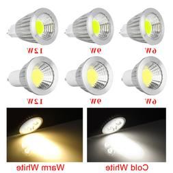 2/5/10x GU10 MR16 COB LED 12V Spotlight 6W 9W 12W Spot Light