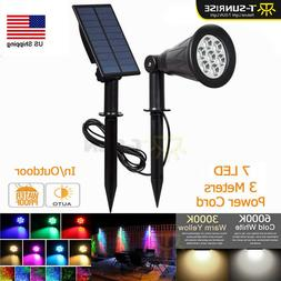 Solar Power 7 LED Spotlight Waterproof Outdoor Security Ligh
