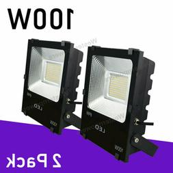 2 x 100W Led Flood Light Outdoor Spotlight Garden Yard Squar