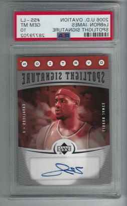 2006 U.D. Ovation LEBRON JAMES Spotlight Signature Auto SP P