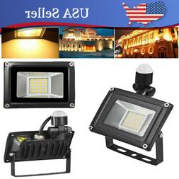 20W LED Flood Lights Warm White PIR Motion Sensor Spotlights
