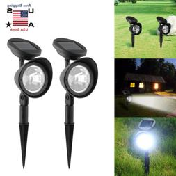 2Pack Solar 4 LED Spot Light Outdoor Garden Yard Landscape F