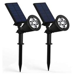 Solar Light 4 LED Solar Spotlight Adjustable Outdoor Wall L