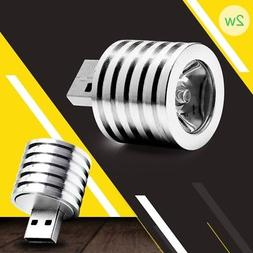 2W Portable Mini USB LED Spotlight Lamp Light Mobile Power F