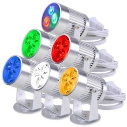 3 LED 3W Aluminum Pinspot Stage Effect Light Disco Party Dis