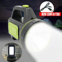 3000LM USB Waterproof Rechargeable Searchlight Camping Spotl
