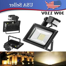 30W LED Flood Lights Warm White PIR Motion Sensor Spotlights