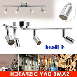 4 Head Industrial Ceiling Pendant Hanging Track Spot Light G
