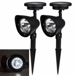 4 LED Solar Power Garden Lamp Spot Light Outdoor Lawn Landsc
