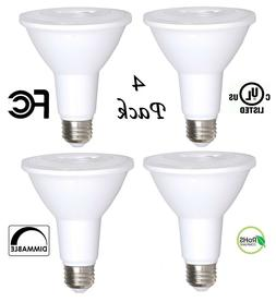 4 Pack Bioluz LED PAR30 12w 3000k 850 Lumen Dimmable Spotlig