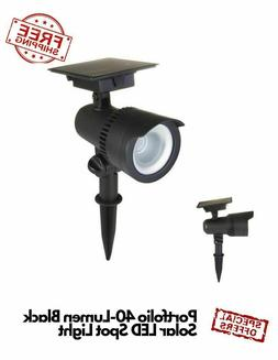Portfolio 40-Lumen Black Solar LED Spotlights