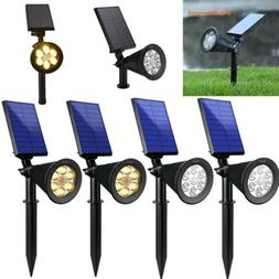 Solar Light 6 LED Solar Spotlight Adjustable Outdoor Wall L