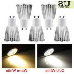 5 Pack GU10 COB LED Bulbs Non-Dimmable Lamp 6W 9W 12W Spotli
