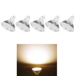 5pcs MR16 LED Bulb Spotlight Lamp Warm White Light GU5.3 Bas