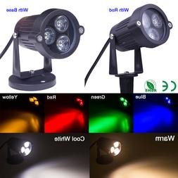 6 Color 9W LED Flood Lights Landscape Garden Yard Path Flood