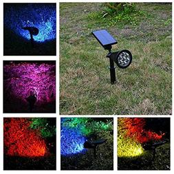 FidgetFidget 7 LEDs Solar Powered Flood Spot Light Garden Sp