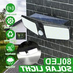80LED Dual Security Detector Solar Spot Light Motion Sensor