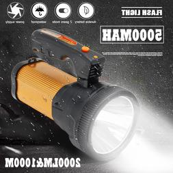 80W 2000LM Portable LED Work Light USB Rechargeable Hand <fo