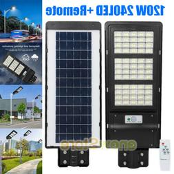 90W LED Auto Solar Power Outdoor Wall Street Light Motion Se