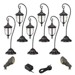 Bellagio Bronze 10-Piece LED Path and Spot Light Set