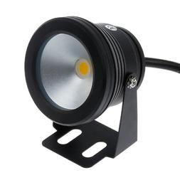 Lemonbest® 10w 12v Black LED Underwater Flood Light for Lan