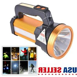Bright LED Searchlight USB Rechargeable Handheld Flashlight