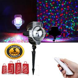 Christmas Laser Light Show Projector RGB Snowfall Landscape