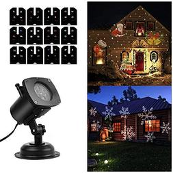 SOLLED Christmas Projector Lights 12 Pattern LED Light Proje