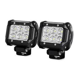 Nilight 2 X 18w 1260lm Cree LED Flood Beam 60 Driving Fog Li