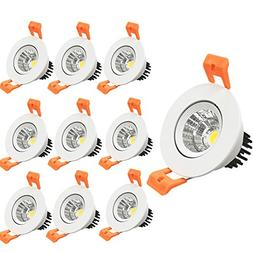 LightingWill 10 Pack 3W CRI80 LED Downlight Dimmable 230LM D