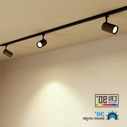 dimmable led black track light 17 5w