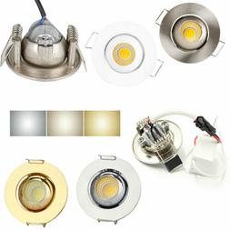 Dimmable Mini 3W Recessed LED Ceiling Light COB Downlight Sp