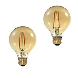 Euri Lighting Filament Light Bulbs G25 LED Light Bulb, 2400K