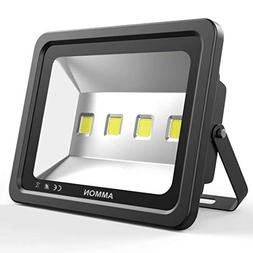 AMMON LED Flood Light, 200W Outdoor Waterproof IP65 20000lm