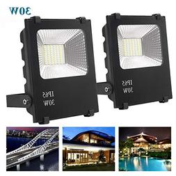 Richday New 2Pack 30W LED Flood Lights Spotlights Outdoor Wa
