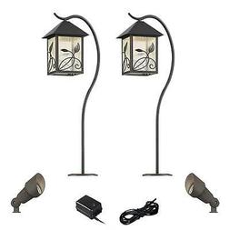 French Garden Bronze 6-Piece LED Path and Spot Light Set
