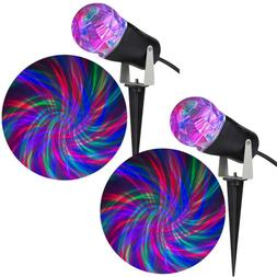 Holiday Light Show Projection Light Ribbon 2-Piece Combo Pac
