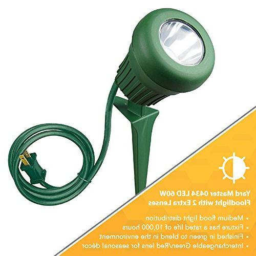 Yard 60W 200 Light, LEDs, Green with
