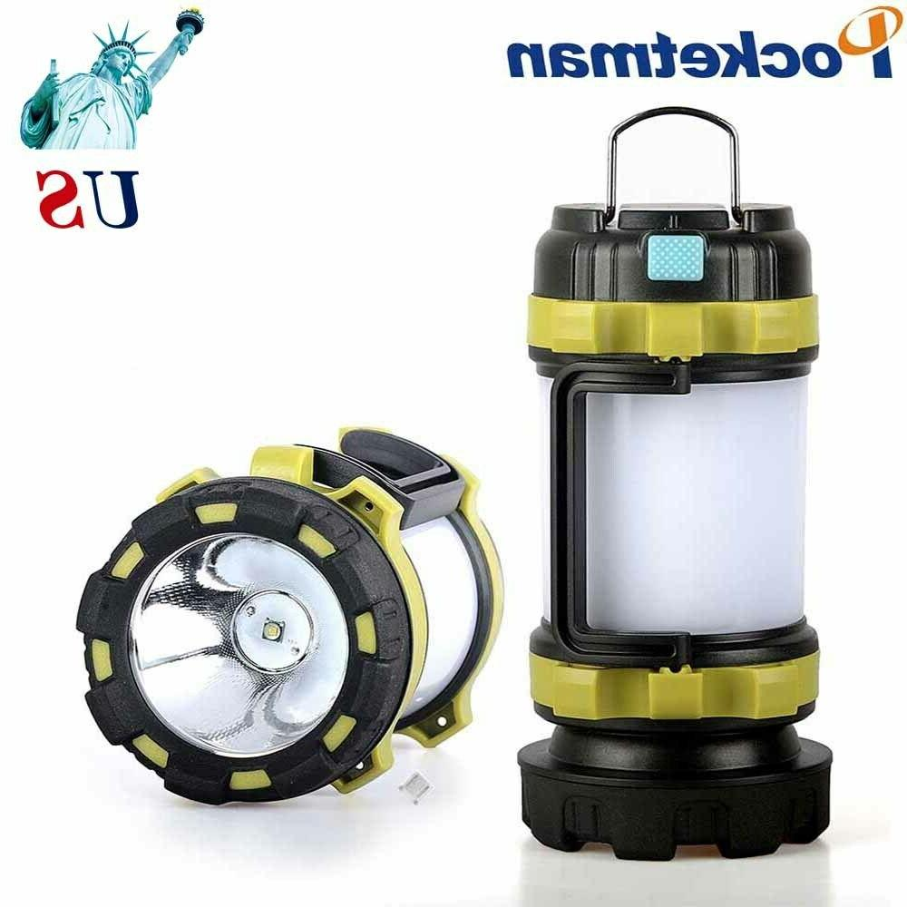 100000lm led camping lantern flashlight rechargeable work
